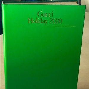 Gucci Holiday 2020 hard bound book/brochure